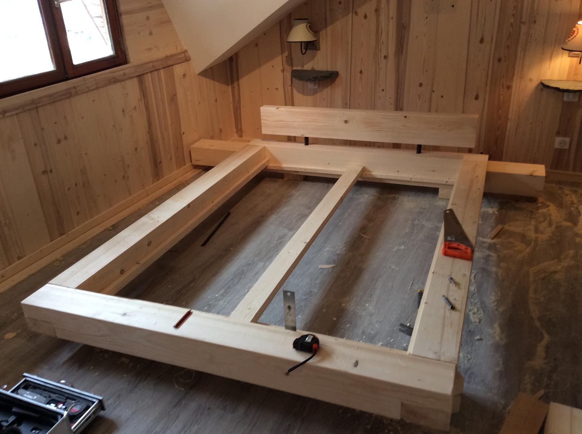 fabrication de la structure du lit
