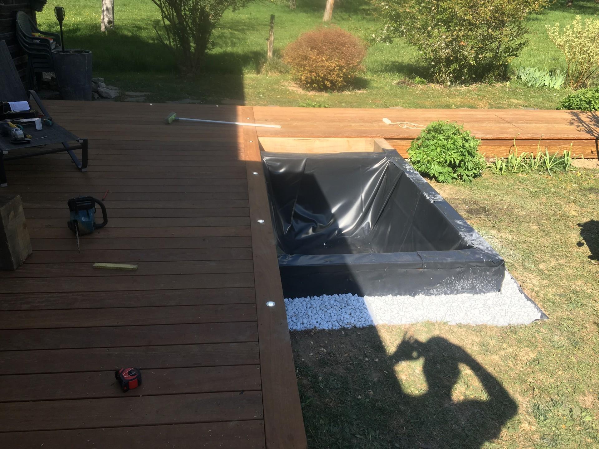 Création d'un bassin intégré à la terrasse