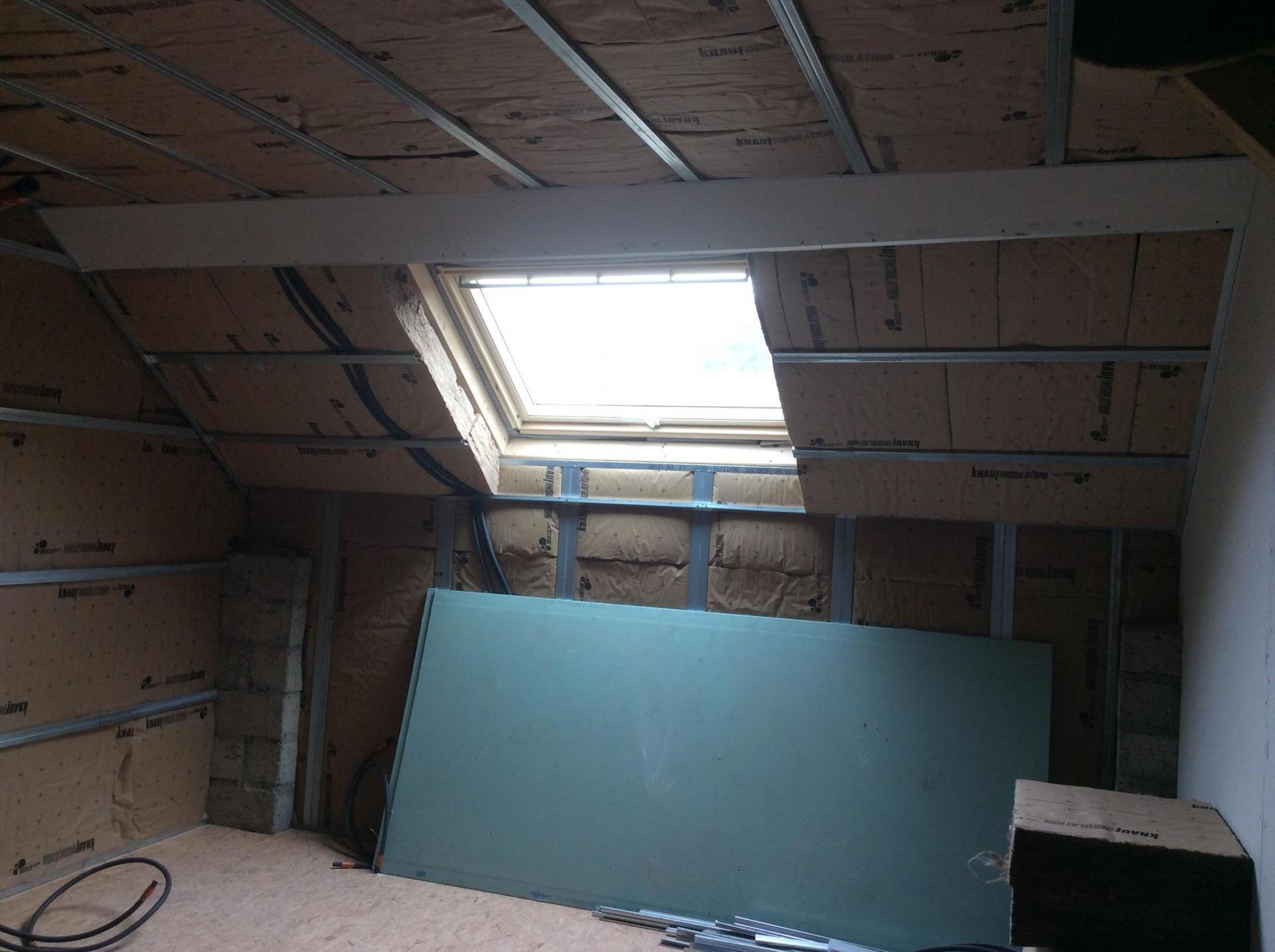 création d'une fenêtre de toit, faverges