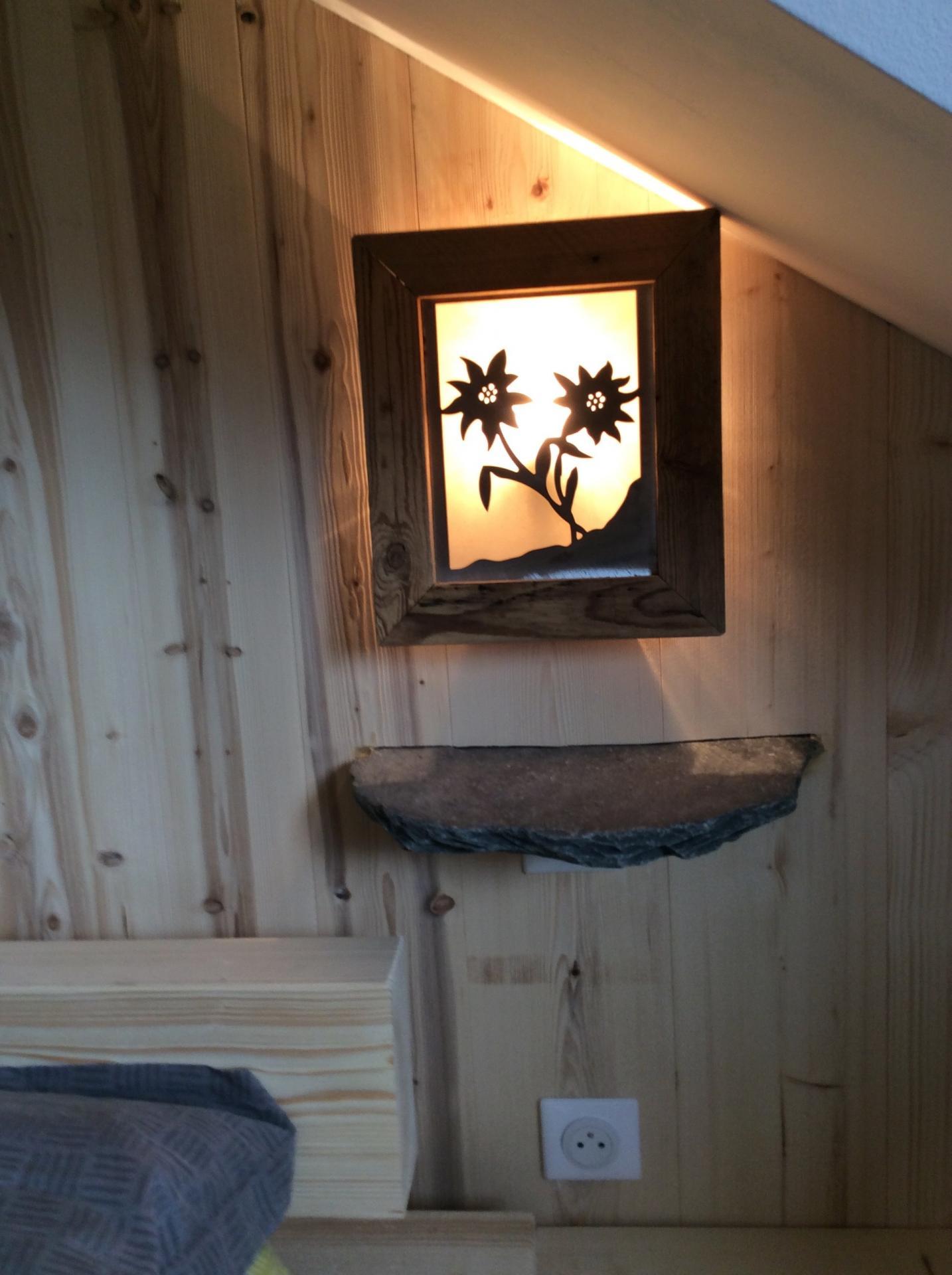 création d'une table de nuit avec luminaire2