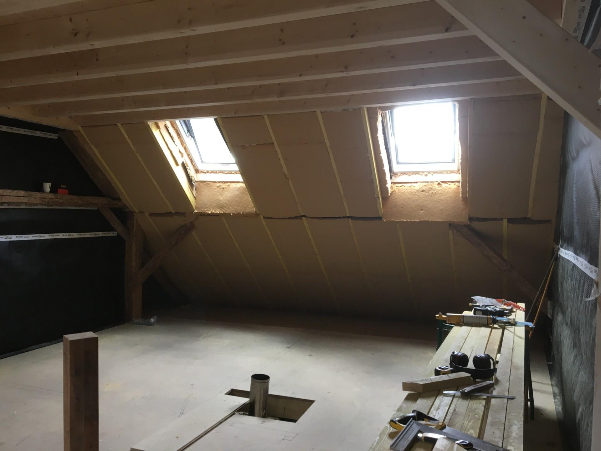 Isolation sous-toiture