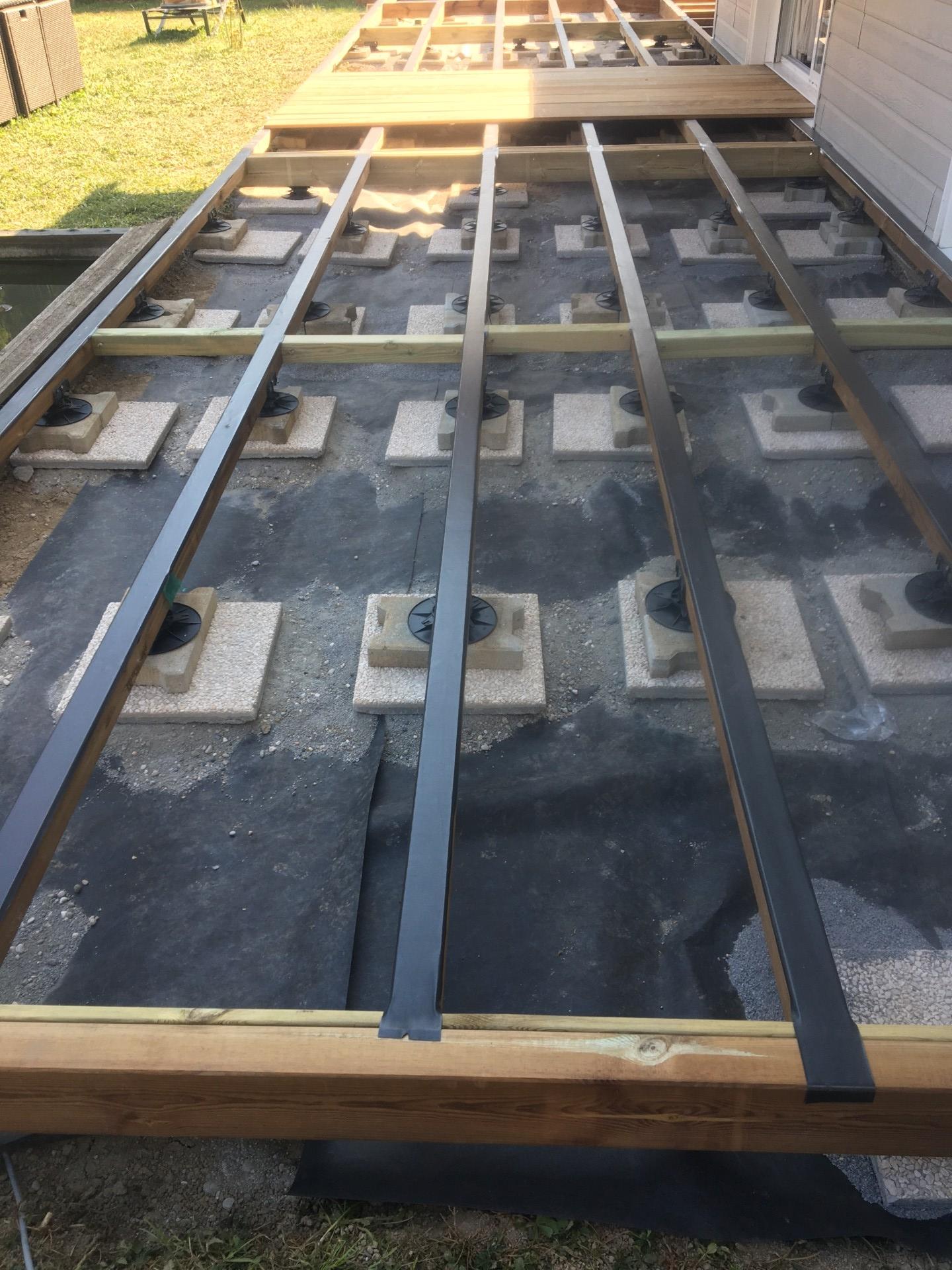 protection de la structure de la terrasse